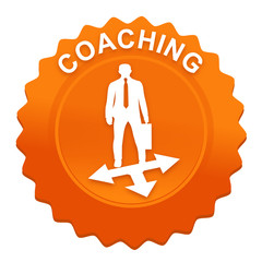 coaching sur bouton web denté orange