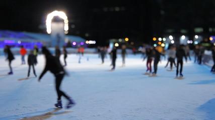 Ice Skating Night Tilt Shift