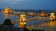 Panorama of Budapest, Hungary. Chain Bridge and the Parliament.