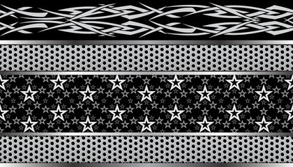 tribal star seamless pattern fashionable