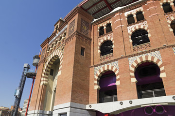 The Bullring Arenas on Spain Square, Barcelona.