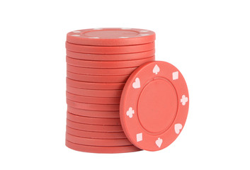 Casino chips red