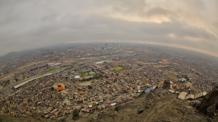 Lima Cityscape Time Lapse Fisheye HDR