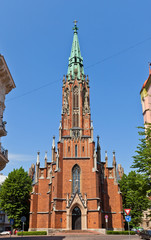 Saint Gertrude Old Church (1866) in Riga, Latvia