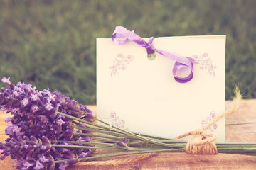 Lavender and greeting card