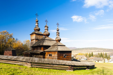 wooden church, Museum of Ukrainian village, Svidnik, Slovakia
