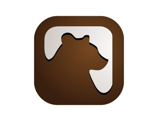 bear logo,business symbol,animal mammal icon
