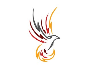 bird logo,phoenix flying symbol,wings icon
