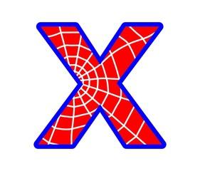 X letter - spider web alphabet