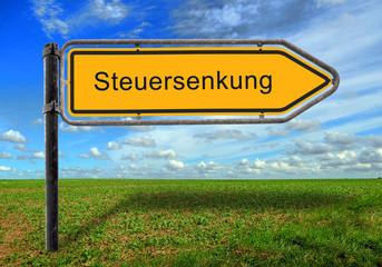 Strassenschild 17 - Steuersenkung