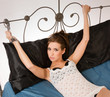Pretty Woman Angry Restrained Handcuffs Wrought Iron Bed Frame