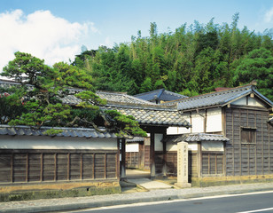 Front Gate of Old Japanese Residence