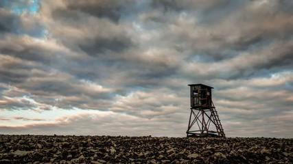 Wolken über dem Feld - Zeitraffer, Timelapse