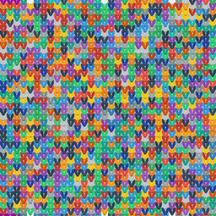 Colorful seamless texture of knitted fabrics
