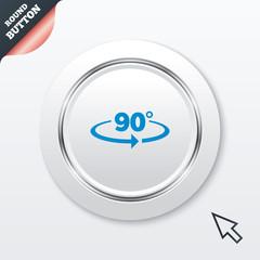 Angle 90 degrees sign icon. Geometry math symbol