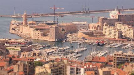 Marseille Cityscape Time Lapse Tilt Shift