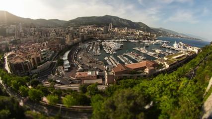 Monaco Cityscape Time Lapse Fisheye