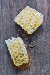 sweet honeycombs with honey