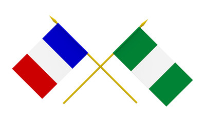 Flags, Nigeria and France