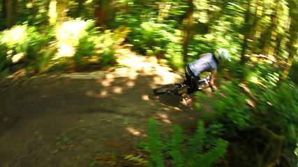 Mountain Biking Trails Slow Motion