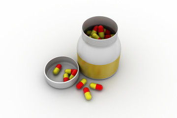Capsule in bottle
