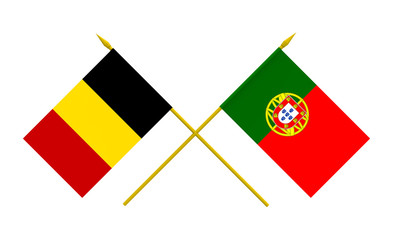 Flags, Belgium and Portugal