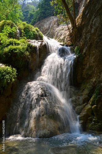 Fototapeta Forest waterfall Eravan, Thailand
