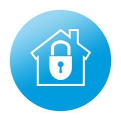 Etiqueta redonda seguridad en el hogar