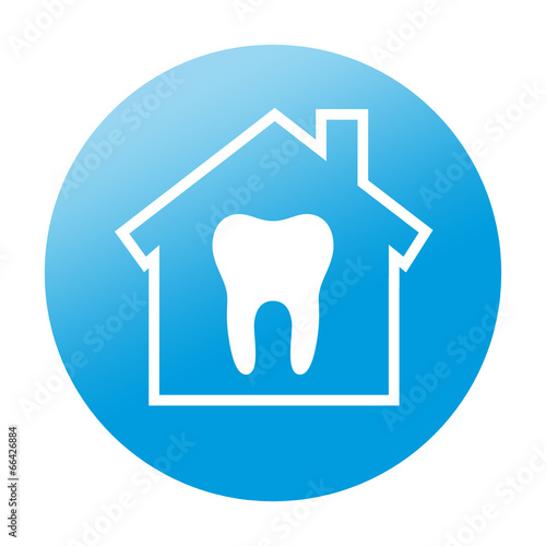 Etiqueta redonda clinica dental