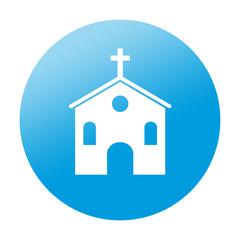 Etiqueta redonda iglesia