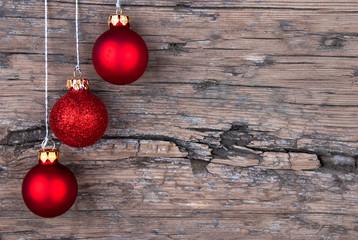 Christmas Balls on Wood