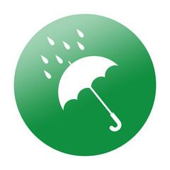 Etiqueta redonda lluvia