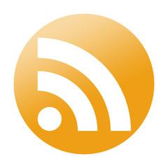 Etiqueta redonda RSS