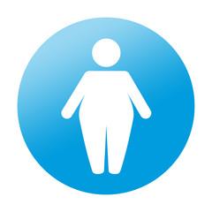 Etiqueta redonda obesidad