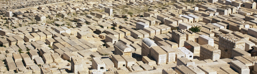 the jewish cemetery  in Jerusalem
