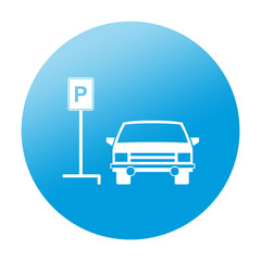 Etiqueta redonda parking para coches
