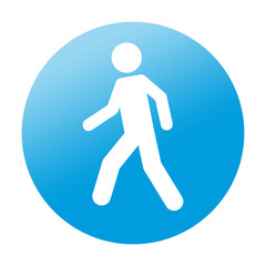 Etiqueta redonda peaton