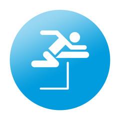 Etiqueta redonda salto de vallas