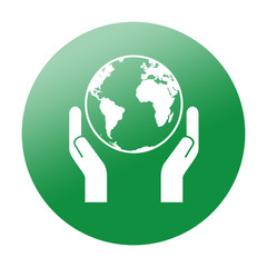 Etiqueta redonda salvar el planeta