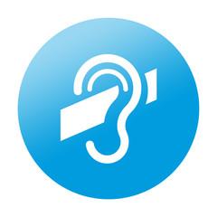 Etiqueta redonda sordera