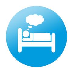 Etiqueta redonda dormir