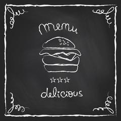 Chalkboard burger menu