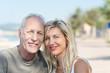 entspanntes älteres paar im urlaub
