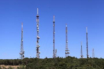 Tralicci con ripetitori televisivi - Monte Lauro