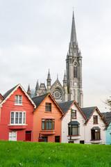 Terraced houses. Cobh, Ireland