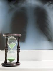 Roentgen and an hourglass