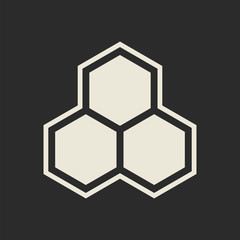 Hexagon icon. Honeycomb