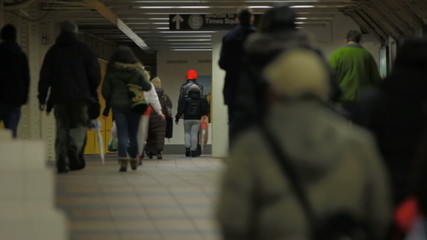 NYC Subway People Walking