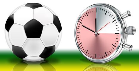 Fußball mit Uhr