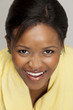 Gorgeous happy South African woman, closeup